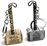 #4: EzziDeals Silver, Gold Keyring & Keychain(Set Of 2)