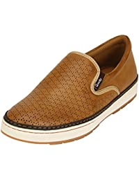 Quarks Men's Synthetic Slip On Smart Casual Shoes J1115
