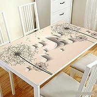 TAO Nappe Tissu Coureurs Table de Table Tissu impression pvc étanche anti-hot-résistant à l'huile en verre souple maison décoration table à manger table basse (Couleur : H, taille : 70*130cm)