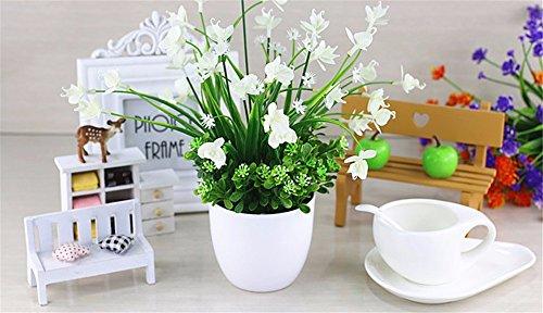 MEILI FLOWER Die Orchidee grün Topfpflanze Simulation Blume Kunststoff Blume Seide Blume Kit Schaukel Stück gefälschte Töpfe Ansicht Bonsai, w (Seide Blume-kit)