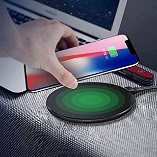 Costume QI 10W Anti-Gravity Wireless Ladegerät Halter für iPhone X/XR / XS/XS Max (Schwarz)
