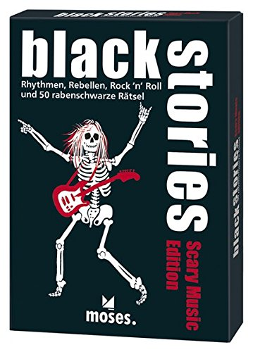 black stories - Scary Music Edition: Rythmen, Rebellen, Rock´n´Roll und 50 rabenschwarze Rätsel - Taste Back Rock