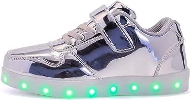 Bambini LED Lampeggiante Scarpe con Telecomando Scarpe LED 7 Colore USB Carica LED Lampeggiante Luminosi Sneaker Scarpe Sportive
