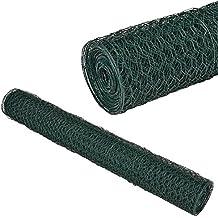 [pro.tec] Malla de alambre hexagonal verde [1m x 25m] Valla de tela metálica - cerca de alambre - revestimiento de PVC