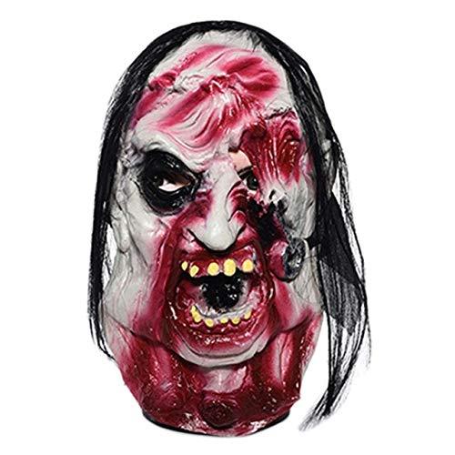 WSCOLL Horror Latex Zombie Maske Maske Dämon Gute Textur Maske Halloween Evil Full Head Maske Cosplay Party Requisiten wie auf dem - Bilder Von Monster High Kostüm
