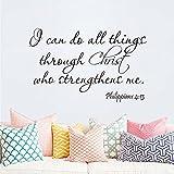 Ich kann alles durch Christus der mich stark macht Bibel Vers Zitat Spruch Wandtattoo Wandbild