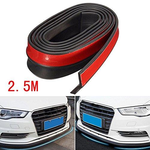 Preisvergleich Produktbild Tongshi 2, 5 M Universal Kohlefaser Vordere Stoßstange Lippe Splitter Chin Spoiler Körper trimmen 8FT (A)