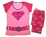 Damen Schlafanzug - T-Shirt & Lange Hose - Superhero - Baumwolle