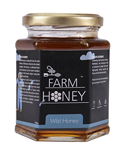 Farm Honey Wild Unprocessed Honey|Pure Organic Raw Honey|100% Natural|no preservatives| No Artificial Color|no Added Sugar|350 Gm