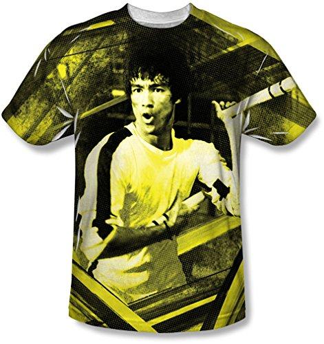 Bruce Lee - - Stripes jeunesse T-Shirt, Large, White