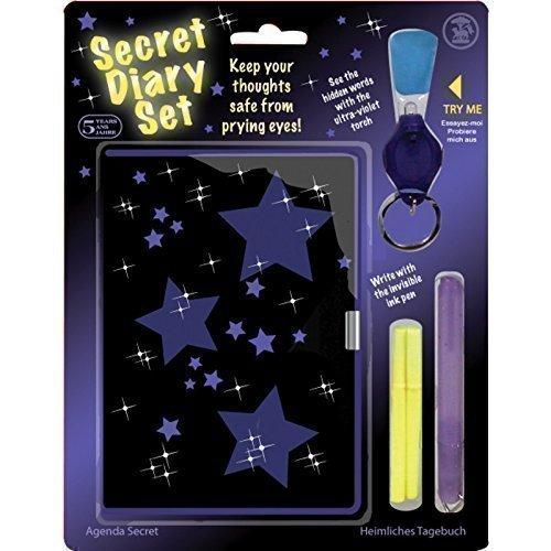 Tagebuch Stift-set Und (Lizzy Geheimes Tagebuch Set mit unsichtbarem Tintenstift UV Licht und Vorhängeschloss)
