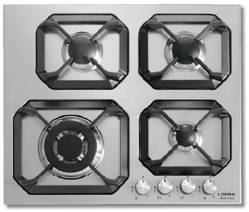 Lofra hls6g0 - Plate (Built-in, Gas, Stainless Steel, Rotary, Top Front, 59.8 cm)