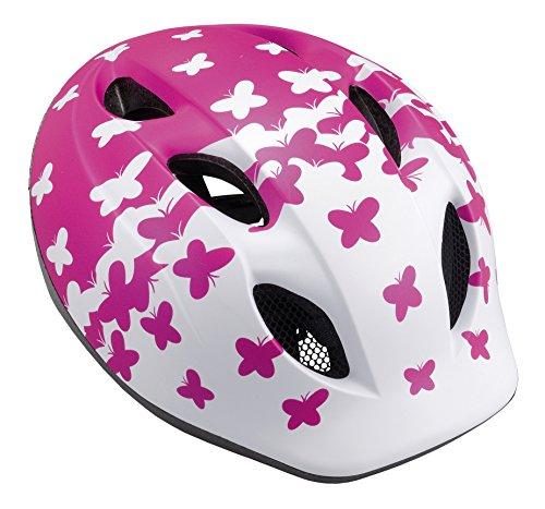 MET Kinder Fahrradhelm Buddy, Pink Butterflies, 46-53 cm, 3HELM19UNPF