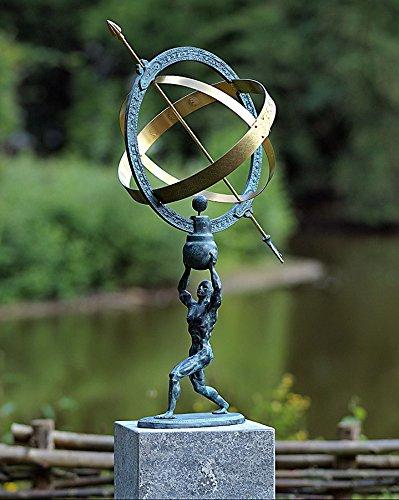 Mann mit Sonnenuhr, Bronzeguss