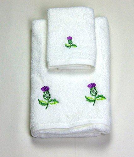 Asciugamano da viso e asciugamano in a balmoral thistle design