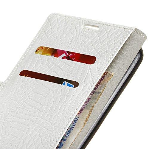 Krokodil Haut Textur Muster Faux Leder Folio Stand Case Soft Silikon Abdeckung mit Kartensteckplätzen für Google PIXEL 2 XL ( Color : Blue ) White