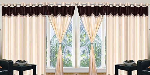 Home Pictures For You Crush Polyester Curtains (Set of 4) (Long ...