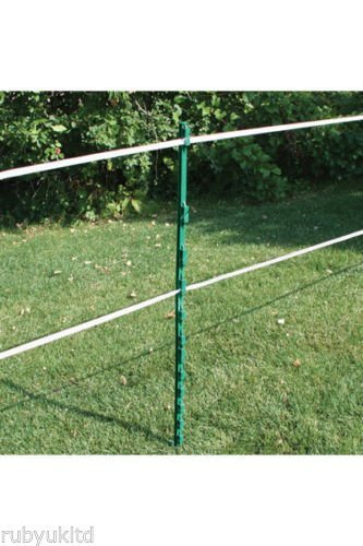 10 Pack of Rutland Green Economy Electric Fencing Poly Posts 2