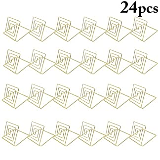JUSTDOLIFE-24-STCKE-Platzkartenhalter-Metall-Tisch-Kartenhalter-Tabellennummer-Stand