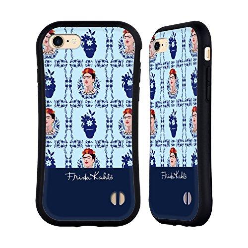 Ufficiale Frida Kahlo Marrone Ritratti E Pattern Case Ibrida per Apple iPhone 6 Plus / 6s Plus Blu Cielo