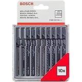 Bosch Professional 10 st. sticksågblad set (för trä, tillbehör sticksågar T-skaft)