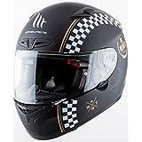 MT - Casco Integral de Fibra MT MATRIX CAFE RACER Negro Mate Talla M
