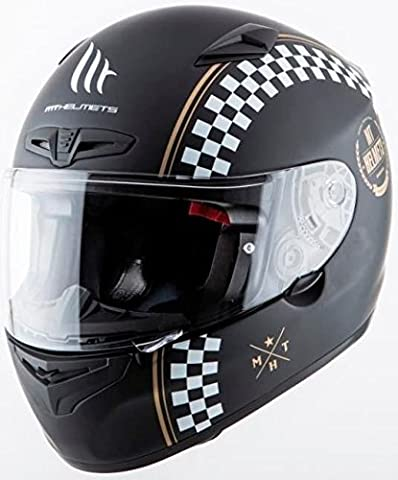 MT - Carbon fibre full-face helmet for mountain bikes, Matrix bikes, Cafe Racer bikes, matte black size