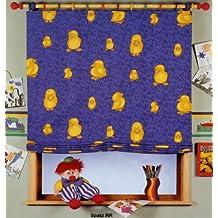 'estor con niños diseño gorrión, diferentes tamaños, 100% poliéster, azul, 170x100