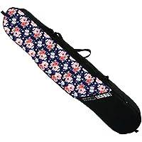 Snowboard esquí bolsa morado rojo flores Len [051]