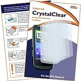 """6 x mumbi Displayschutzfolie HTC Desire S Displayschutz """"CrystalClear"""" unsichtbar"""