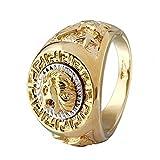 Da uomo Cool Lion Eagle Star Band punk Nocca dito anello accessori moda Amesii e Lega, 22, colore: 10, cod. AME