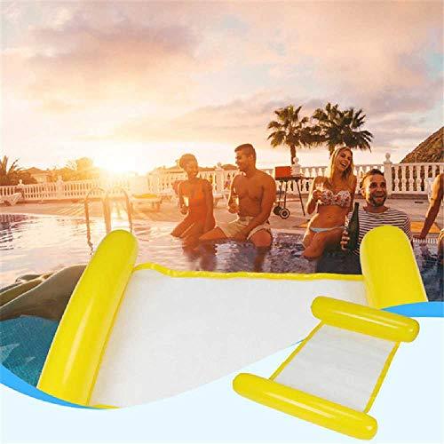 DARLING Wasser schwimmenden Bett PVC - aufblasbare pai kohlensäurehaltiges Wasser schwimmenden Bett Liege Floating Row schwimmenden Bett wasserbett 130 * 73CM/Gelb -