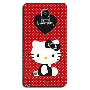 Mozine Hello Kitty printed mobile back cover for Samsung Note 4