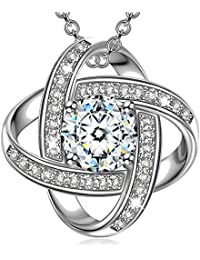 Regalos Alex Perry collar para las mujeres de chicas Amigos Sus joyería personalizada blanco de plata pendientes de oro de los regalos de cumpleaños aniversario para Día de la Madre de San Valentín