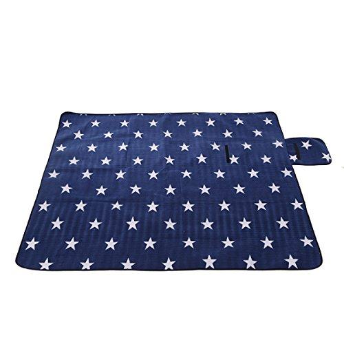 Outdoor-Camping-Picknickmatte Feuchtigkeitsdichten Tuch 200 X 200 Cm,Five-pointedStar-170*200