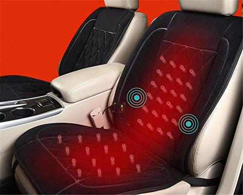 Stuhl-bein-stecker (GEARS PANDA Auto Kissen Auto Heizung Kissen 12V Ultra-Samt Kohlefaser Material 30 Sekunden schnelle Hitze , B)