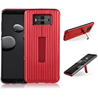 HengJun Für Huawei Mate 10 Fall, TPU + PC-Deichsel Horizontale Vertikale Creative Design 2in1 Standhalterung Seismic Anti-Schock Doppel-Schutzhülle für Huawei Mate 10 - Rot