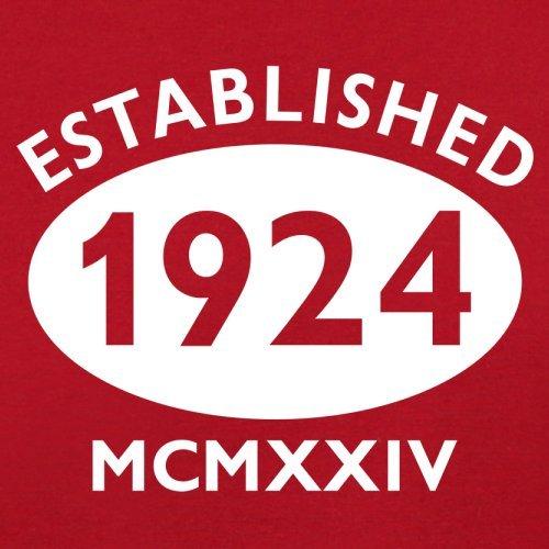 Gegründet 1924 Römische Ziffern - 93 Geburtstag - Herren T-Shirt - 13 Farben Rot