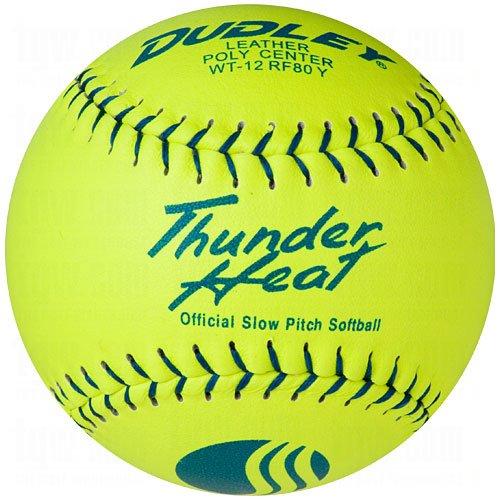 Hitze Slow Pitch Classic M Stempel Softball–Leder Bezug–12Pack ()
