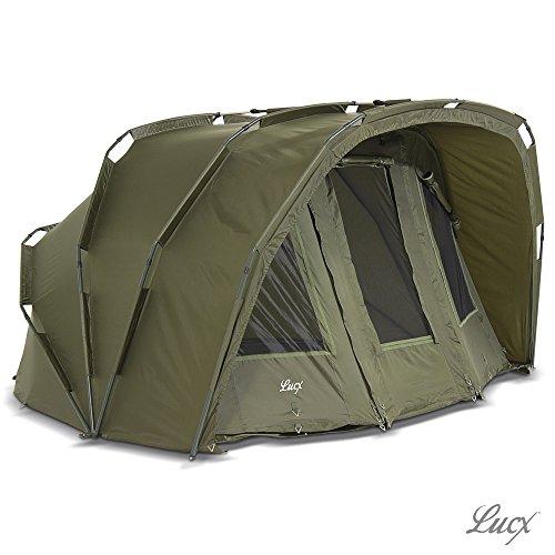 Lucx® Tiger Bivvy / 1-3 Mann Angelzelt / Karpfenzelt / Carp Dome / Zelt ohne Winterskin / Fishing Tent / 10.000mm Wassersäule