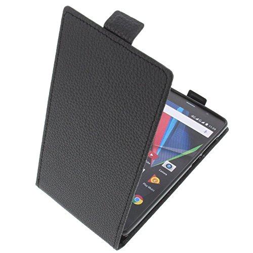 foto-kontor Tasche für Archos 55 Diamond Selfie Lite 55 Diamond Selfie Smartphone Flipstyle Schutz Hülle schwarz