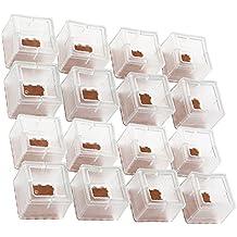 zum Bodenschutz quadratisch 8 St/ück Ourbest Stuhlbeinkappen 40 mm x 40 mm Silikongel transparent