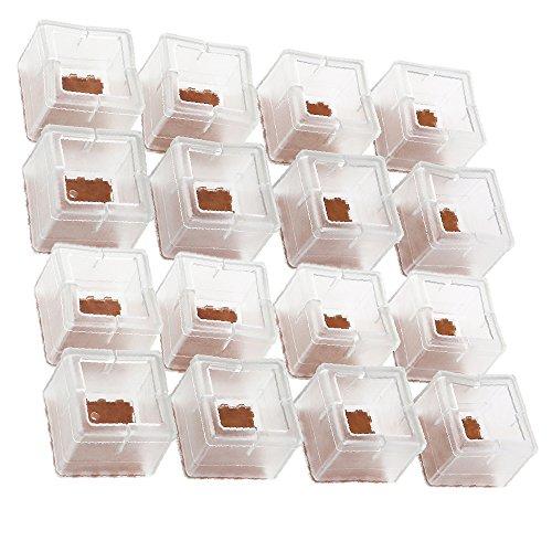 YULAN Stuhl Beinboden Protektoren mit Filz Möbel Pads, 16 Pack Silikon Stuhl gleitet Füße Caps, Möbel Tischfüße Abdeckungen (Gleitet Kunststoff-stuhl)