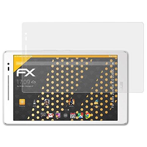 atFolix Panzerfolie kompatibel mit Asus ZenPad 8.0 Z380C Schutzfolie, entspiegelnde & stoßdämpfende FX Folie (2X)