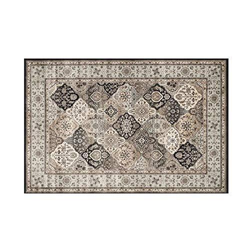 GXLO Persian Floral Oriental Formal Traditioneller Teppich Für Wohnzimmer Schlafzimmer,B,200 * 300CM - Schwarz Floral-teppich