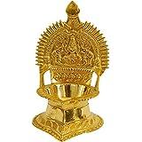 Seyon Brass Kamakshi Kamatchi Devi Maa Oil Lamp Diya Deepam 18 CM
