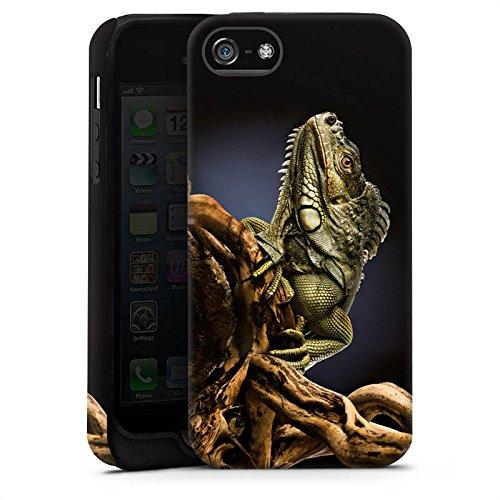 Apple iPhone X Silikon Hülle Case Schutzhülle Echse Reptil Tier Tough Case matt