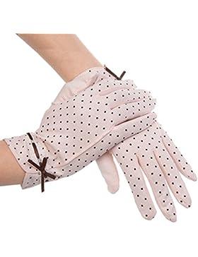 Kenmont mujeres verano de protección UV Encaje corto guantes de algodón antideslizante y anti ultravioleta - KM...
