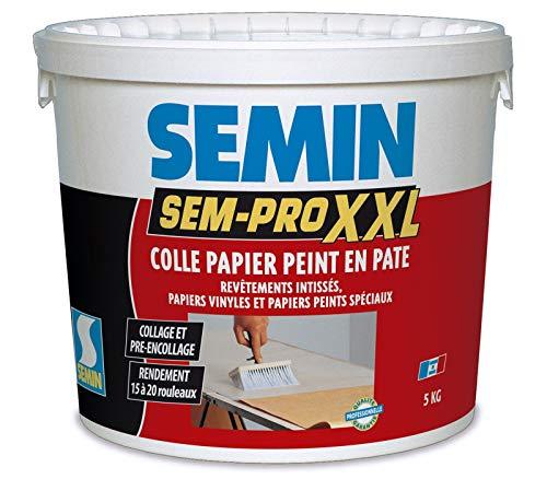 Semin A00514 Sem-Pro XXL, Colle Papiers Peints en Pâte, Prêt à l'Emploi, Seau de 5 kg