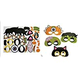 Divertido papel Halloween máscaras con pegatinas